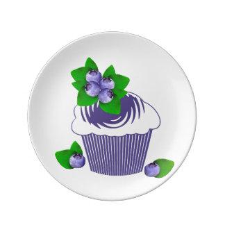 Blueberry Muffin Purple Plate