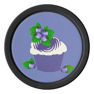 Blueberry Muffin Purple Poker Chips