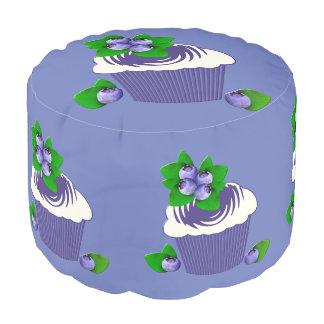 Blueberry Muffin Purple Pouf