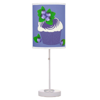 Blueberry Muffin Purple Table Lamp