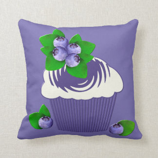 Blueberry Muffin Purple Throw Pillow