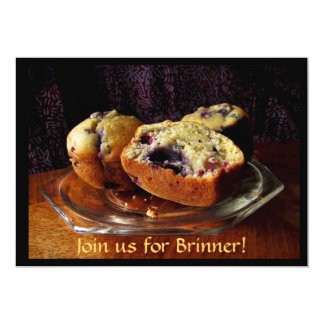 Blueberry Muffins Brinner Invitation