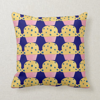 Blueberry Muffins Throw Pillow