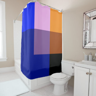 Blueberry Multicolor Shower Curtain by Janz