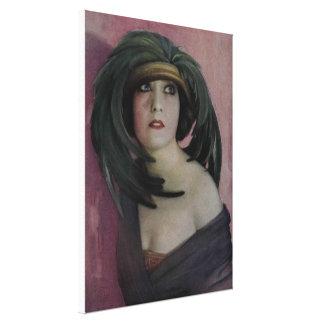 Blueberry Nouveau Art Deco Canvas Gloria Swanson