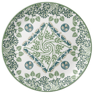 Blueberry Nouveau Art Deco Plate