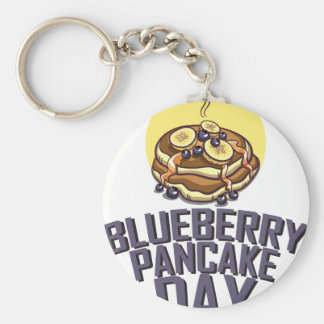 Blueberry Pancake Day - Appreciation Day Basic Round Button Keychain