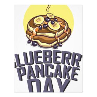 Blueberry Pancake Day - Appreciation Day Letterhead