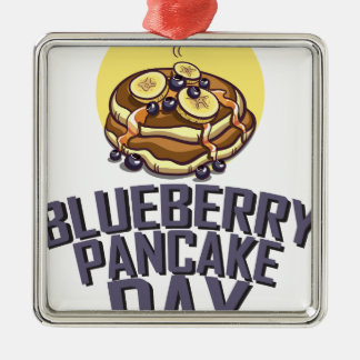 Blueberry Pancake Day - Appreciation Day Metal Ornament