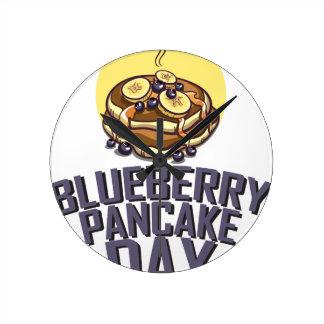 Blueberry Pancake Day - Appreciation Day Round Clock