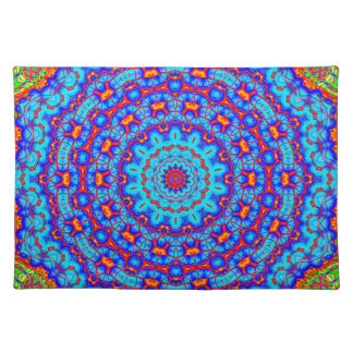 Blueberry Pancake Mandala Kaleidoscope Placemat