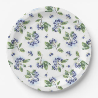 Blueberry Paper Plate