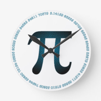 Blueberry Pi Acrylic Wall Clock in White