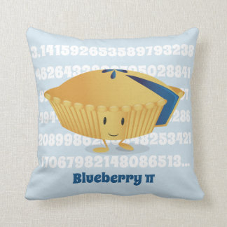 Blueberry Pi Day | Throw Pillow