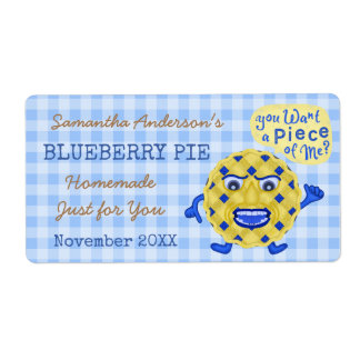 Blueberry Pie or Jam Funny Homemade Dessert | Name Shipping Label