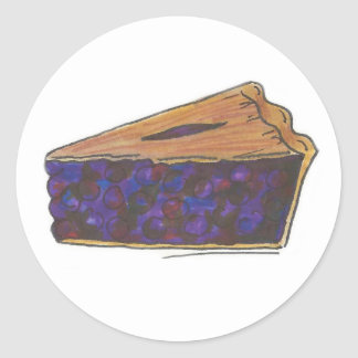 Blueberry Pie Slice Baking Foodie Stickers