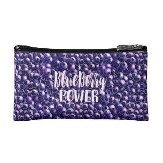 Blueberry power Fresh berry illustration Cosmetic Bag