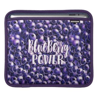 Blueberry power Fresh berry illustration iPad Sleeve