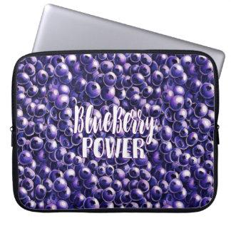 Blueberry power Fresh berry illustration Laptop Sleeve