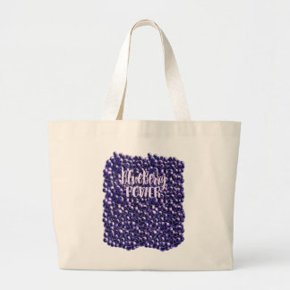 Blueberry power Fresh berry illustration Large Tote Bag