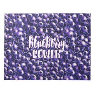 Blueberry power Fresh berry illustration Notepad