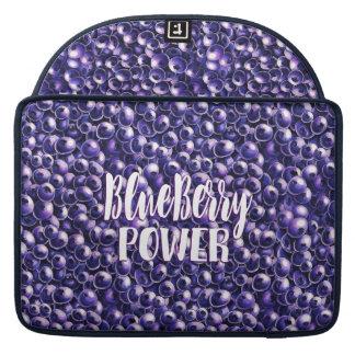 Blueberry power Fresh berry illustration Sleeve For MacBooks