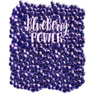 Blueberry power Fresh berry illustration Standing Photo Sculpture