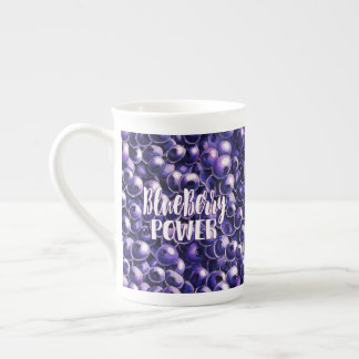 Blueberry power Fresh berry illustration Tea Cup
