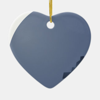 Blueberry Sideway Ceramic Heart Ornament