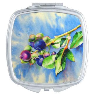 Blueberry sprig makeup mirror