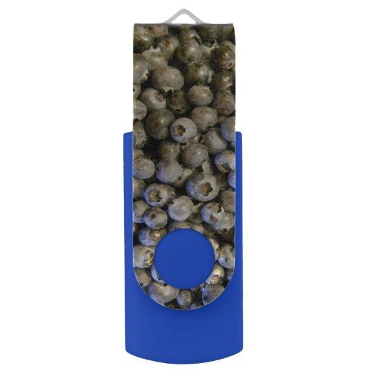 Blueberry Swivel USB 2.0 Flash Drive