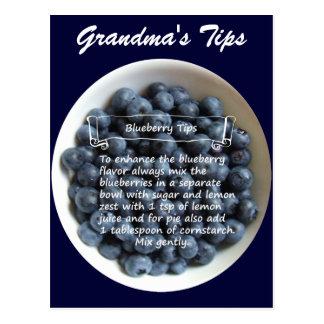 Blueberry Tips Postcard