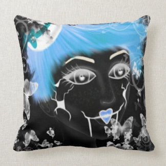 Blueberry Top Doll Throw Pillow