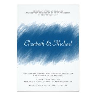 Blueberry Watercolor Wedding Invitation