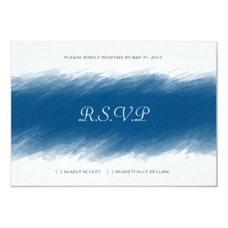 Blueberry Watercolor Wedding RSVP Card