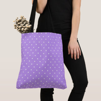 Blueberry & White Polka-Dots(c)Bag or Tote-M-L Tote Bag