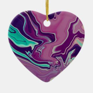 Blueberry Wine.JPG Ceramic Heart Ornament