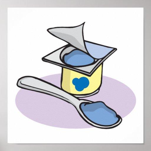blueberry yogurt poster