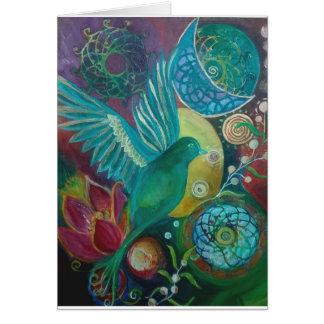 Bluebird abstract fantasy spirituaĺ card