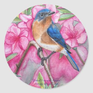Bluebird Among the Azaleas STICKERS
