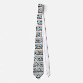 bluebird and piano tie