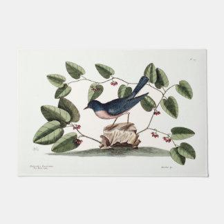 """Bluebird and Smilax Lithograph 24"""" x 36"""" Floor Mat"""