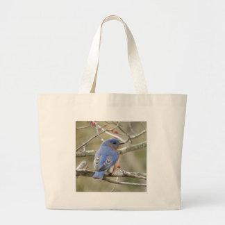 Bluebird Backside Large Tote Bag