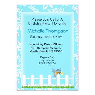Bluebird  Birthday Party Invitations