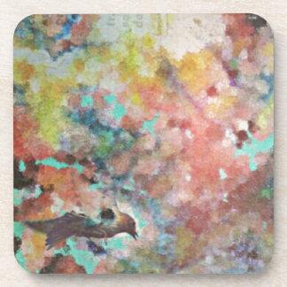 Bluebird Digital Art Drink Coaster