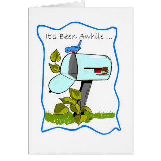 Bluebird Empty Mailbox Thinking of You Card