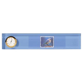 Bluebird (Female) Painting - Original Bird Art Nameplate
