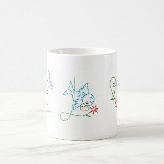 Bluebird/Flowers Mug