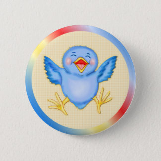 Bluebird Happiness 2 Inch Round Button