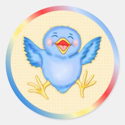 Bluebird Happiness Stickers